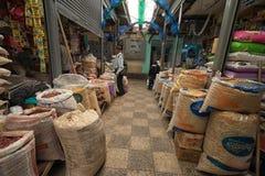 大块生产市场在伊瓦拉厄瓜多尔 免版税图库摄影