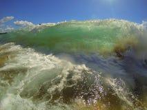 大块的波浪 库存图片