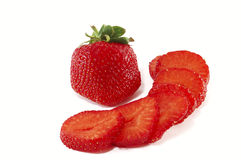 大块草莓 库存图片