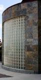 大块玻璃和板岩瓦片墙壁 免版税库存图片