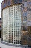 大块玻璃和板岩瓦片墙壁 免版税库存照片