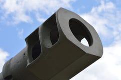 大坦克枪口制跳器 免版税库存照片