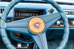 大型个人豪华汽车卡迪拉克黄金国七一代的内部 库存图片