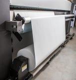 大型格式化打印机 库存照片