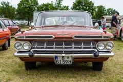 大型汽车薛佛列贝莱尔4门Sedan, 1959年 免版税库存照片