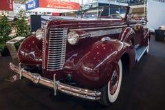 大型汽车Buick Roadmaster Convertible, 1938年 免版税库存图片