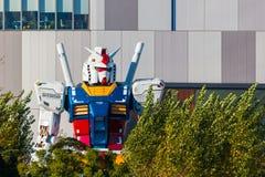 大型流动衣服Gundam在Odaiba,东京 免版税库存图片