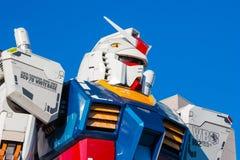 大型流动衣服Gundam在Odaiba,东京 库存图片