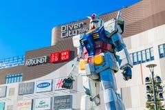 大型流动衣服Gundam在Odaiba,东京 库存照片