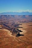 大型装配架峡谷俯视 免版税库存图片