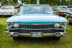 大型豪华汽车卡迪拉克小轿车DeVille, 1959年 免版税库存照片