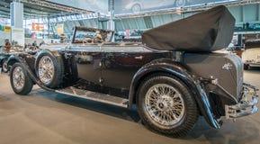 大型豪华汽车奔驰车770K敞蓬车D (W07), 1931年 库存图片