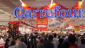 大型超级市场道路交叉点沃尔坎火山盛大开幕式 影视素材