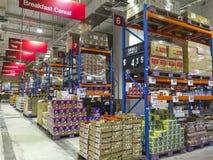 大型超级市场 库存照片