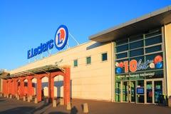 大型超级市场E Leclerc在Elblag,波兰 免版税库存图片