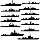 大型驱逐舰和轻武装快舰1 库存图片