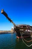 大型驱逐舰嗯独角兽在邓迪,苏格兰 库存照片