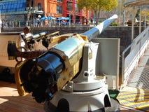 大型驱逐舰枪 免版税库存照片