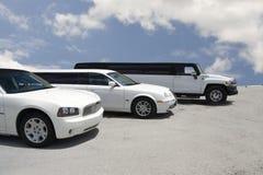 大型高级轿车停车 免版税库存图片