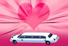 大型高级轿车婚礼 免版税库存图片
