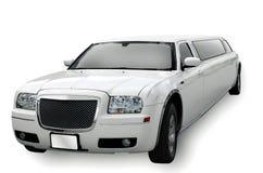 大型高级轿车白色 图库摄影