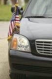 黑总统大型高级轿车 免版税库存图片