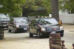 黑总统大型高级轿车 免版税图库摄影