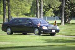 黑总统大型高级轿车 库存照片