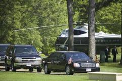 黑总统大型高级轿车 库存图片