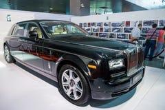 黑大型高级轿车 免版税库存照片