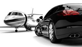大型高级轿车 库存例证
