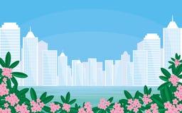 大城市在热带 图库摄影