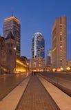 大城市夜间视图 免版税库存照片