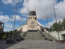 大城市大教堂在利物浦 免版税库存照片