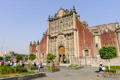 大城市大教堂在墨西哥城 图库摄影