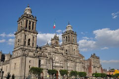 大城市大教堂在墨西哥城 免版税库存照片