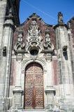 大城市大教堂的Sagrario教堂在墨西哥城 库存图片