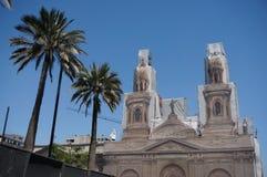 大城市大教堂,圣地亚哥de智利 库存图片