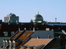 大城市屋顶 免版税图库摄影