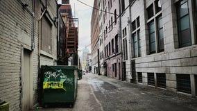 大城市巷道 库存照片
