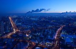 大城市有概略的视图 库存照片