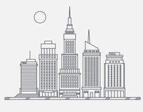 大城市百老汇街道的商业中心 图库摄影
