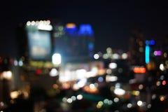 大城市的夜光 免版税库存图片