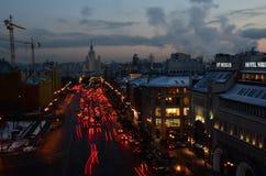 大城市红灯  免版税库存图片