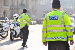 大城市警察在伦敦,英国,英国 免版税库存照片