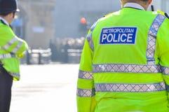 大城市警察在伦敦,英国,英国 免版税图库摄影