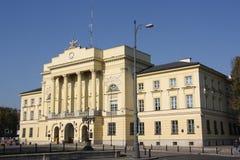 大城市警察HQ在华沙(波兰) 库存照片