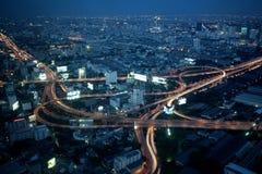 大城市高速公路互换泰国 库存图片