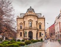 大城市Ervin萨博图书馆是最大的图书馆网络在布达佩斯,匈牙利 免版税库存照片