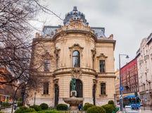 大城市Ervin萨博图书馆是最大的图书馆网络在布达佩斯,匈牙利 库存照片